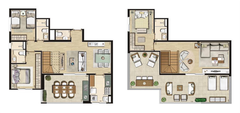 Cobertura 161m² privativos | Thera Residence – Apartamentona  Berrini - São Paulo - São Paulo