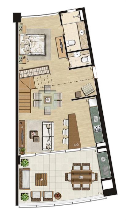 Duplex de 111m² privativos Inferior | Thera Residence – Apartamentona  Berrini - São Paulo - São Paulo