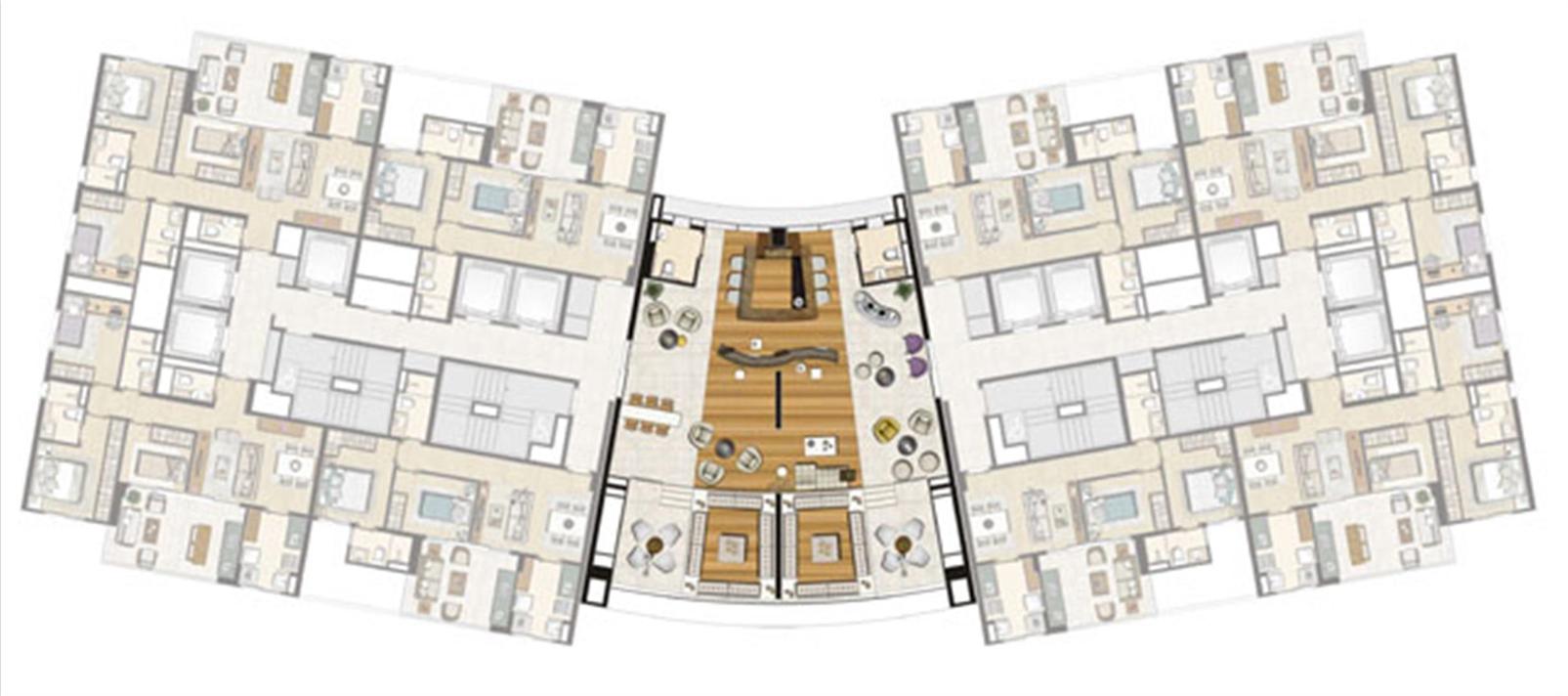 Planta 21ºPav Sky Lounge | Thera Residence – Apartamentona  Berrini - São Paulo - São Paulo