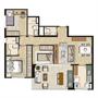 Planta Tipo 84m² privativos | Thera Residence – Apartamento na  Berrini - São Paulo - São Paulo
