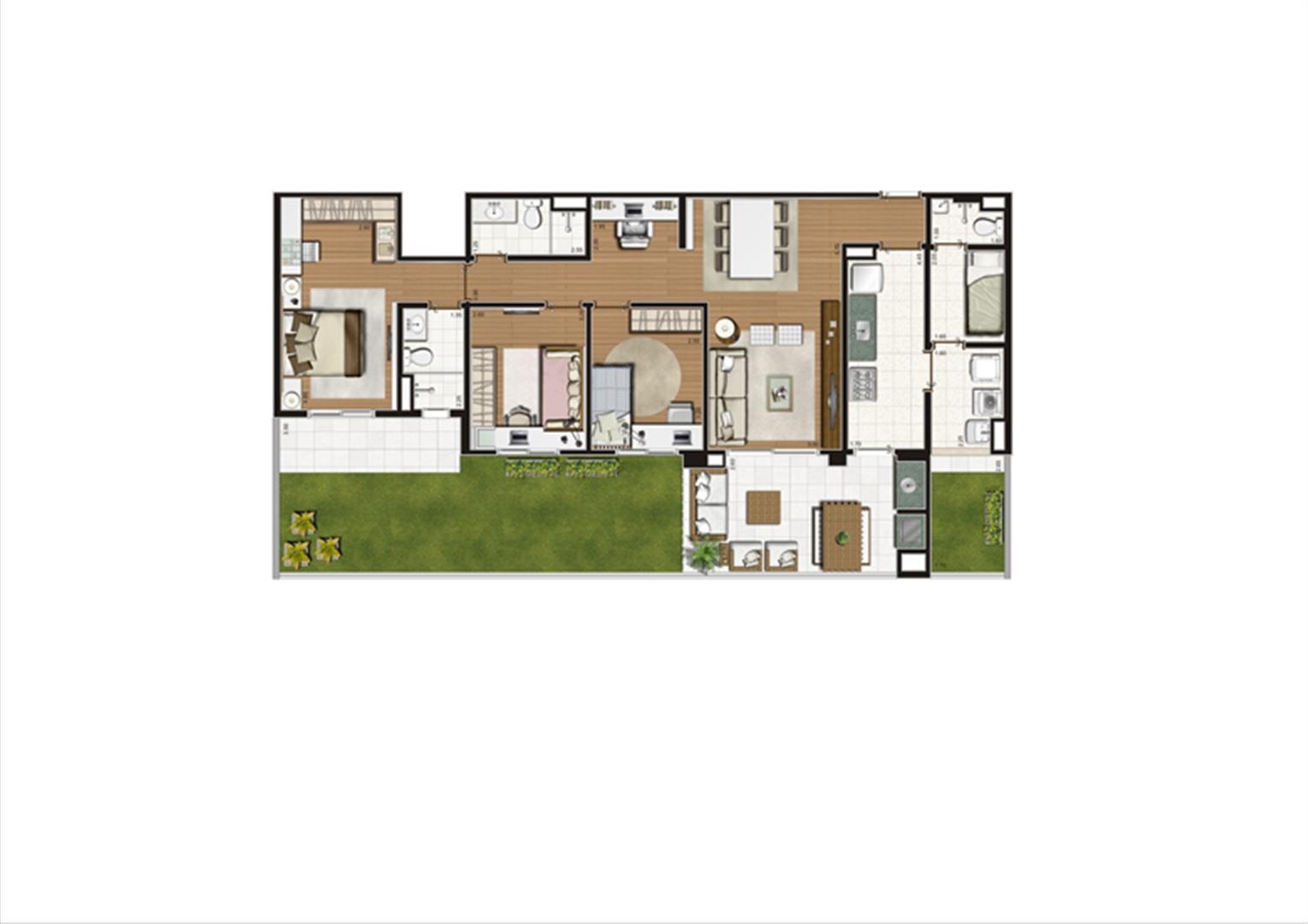 Planta Giardino 140 m² | Luzes da Mooca - Villaggio Luna – Apartamento na  Mooca - São Paulo - São Paulo
