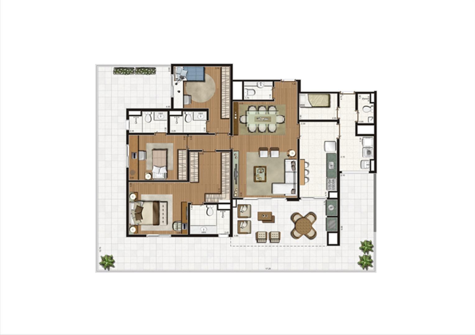 Planta Giardino 214 m² | Luzes da Mooca - Villaggio Luna – Apartamento na  Mooca - São Paulo - São Paulo
