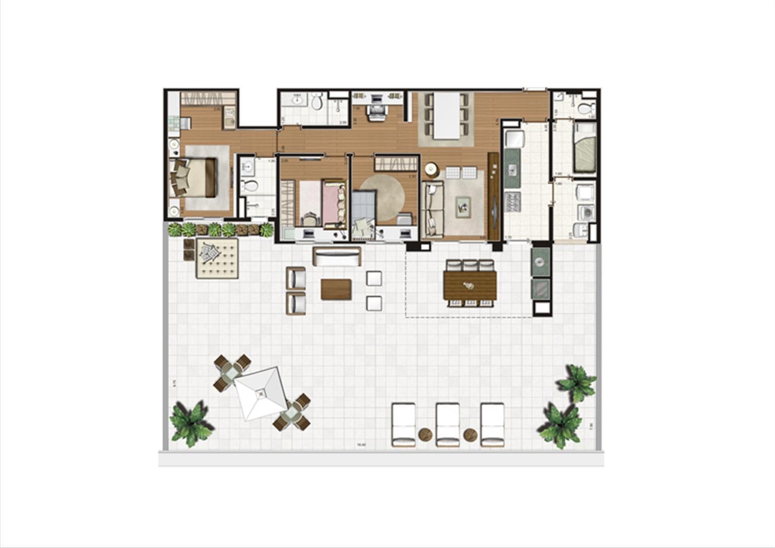 Planta Terrazzo 231 m² | Luzes da Mooca - Villaggio Luna – Apartamento na  Mooca - São Paulo - São Paulo
