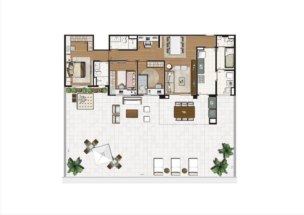 Planta Terrazzo 231 m² | Luzes da Mooca - Villaggio Luna – Apartamentona  Mooca - São Paulo - São Paulo