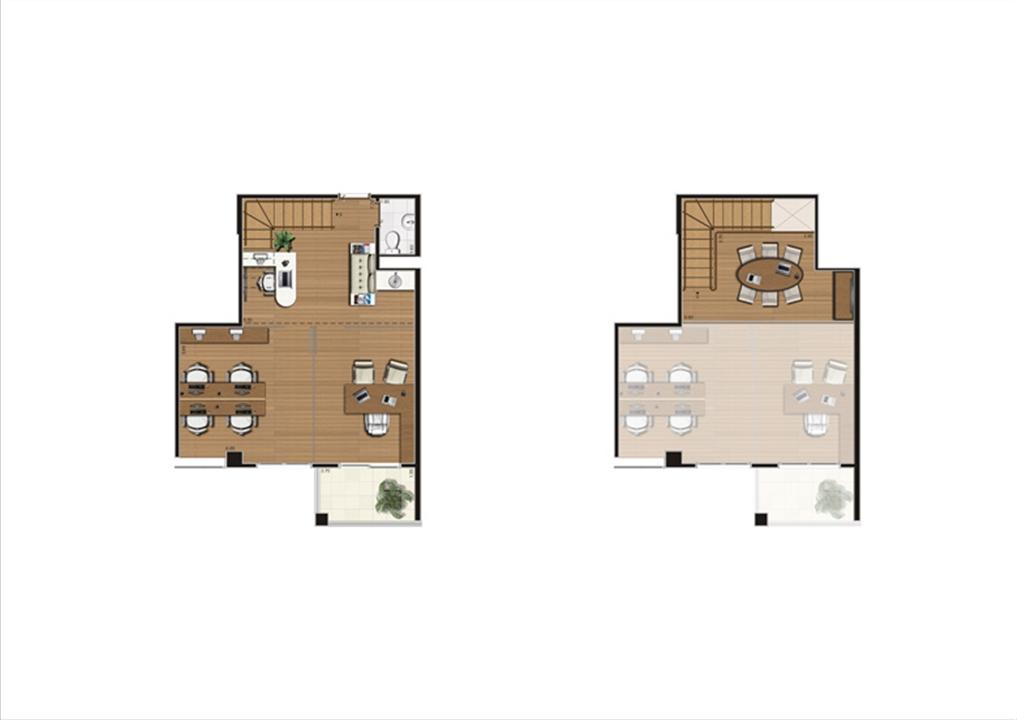 Duplex de 67 m²  Finais 1, 9, 10 e 24   Luzes da Mooca - Atrio Giorno – Salas Comerciaisna  Mooca - São Paulo - São Paulo