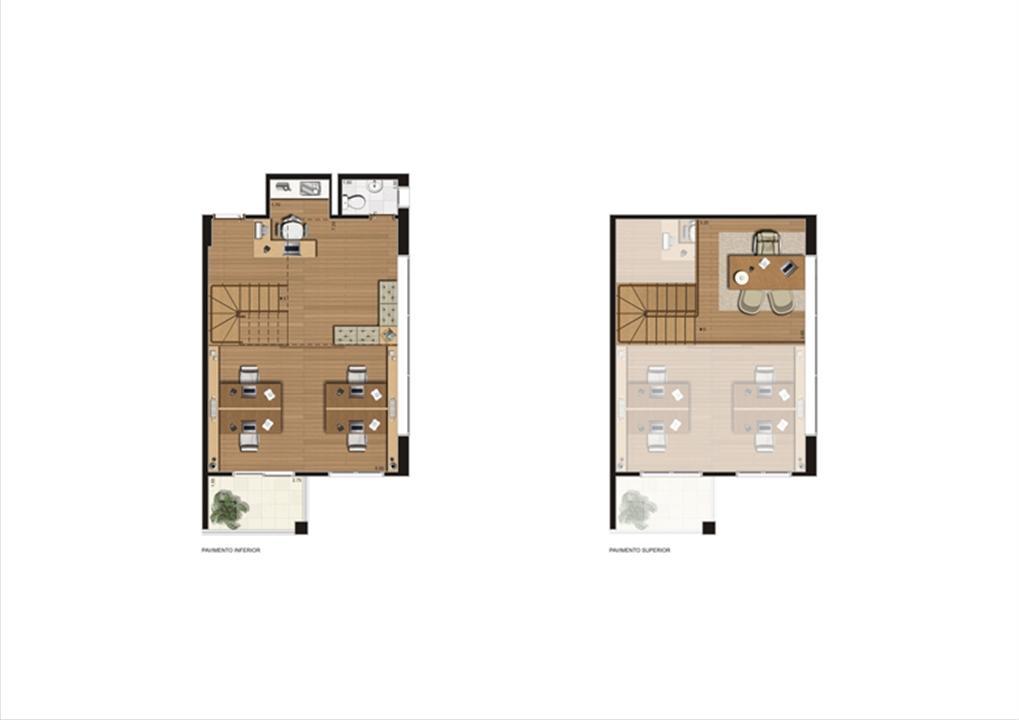 Duplex de 67 m² Final 1   Luzes da Mooca - Atrio Giorno – Salas Comerciaisna  Mooca - São Paulo - São Paulo