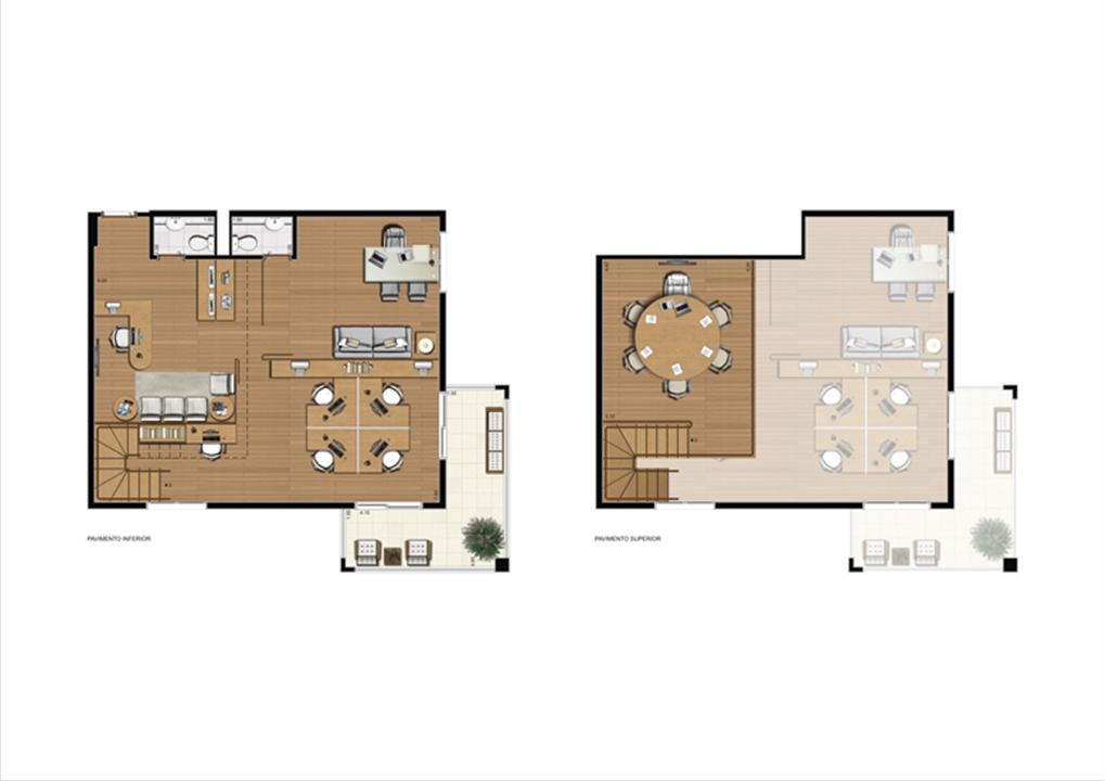 Duplex de 110 m² Final 16   Luzes da Mooca - Atrio Giorno – Salas Comerciaisna  Mooca - São Paulo - São Paulo