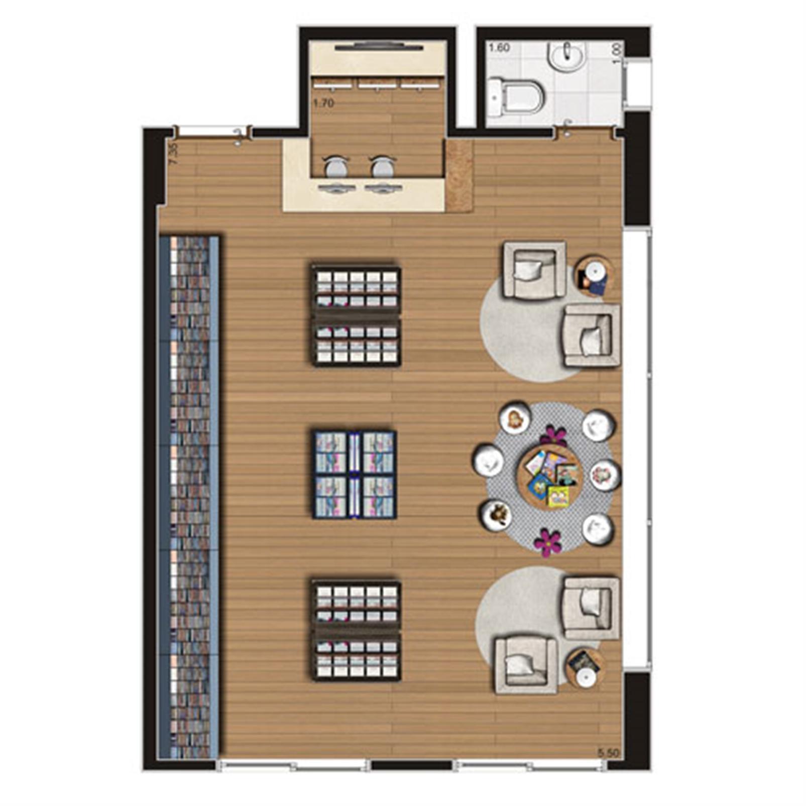 Loja de 49 m² Finais 1 e 9   Luzes da Mooca - Atrio Giorno – Salas Comerciaisna  Mooca - São Paulo - São Paulo