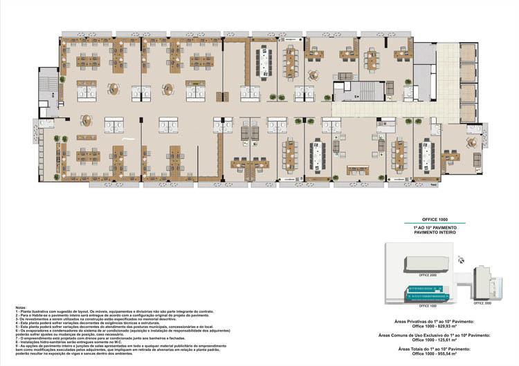 Pavimento livre torre 1 e 2 | Nova América Offices – Salas Comerciais no  Nova América - Rio de Janeiro - Rio de Janeiro