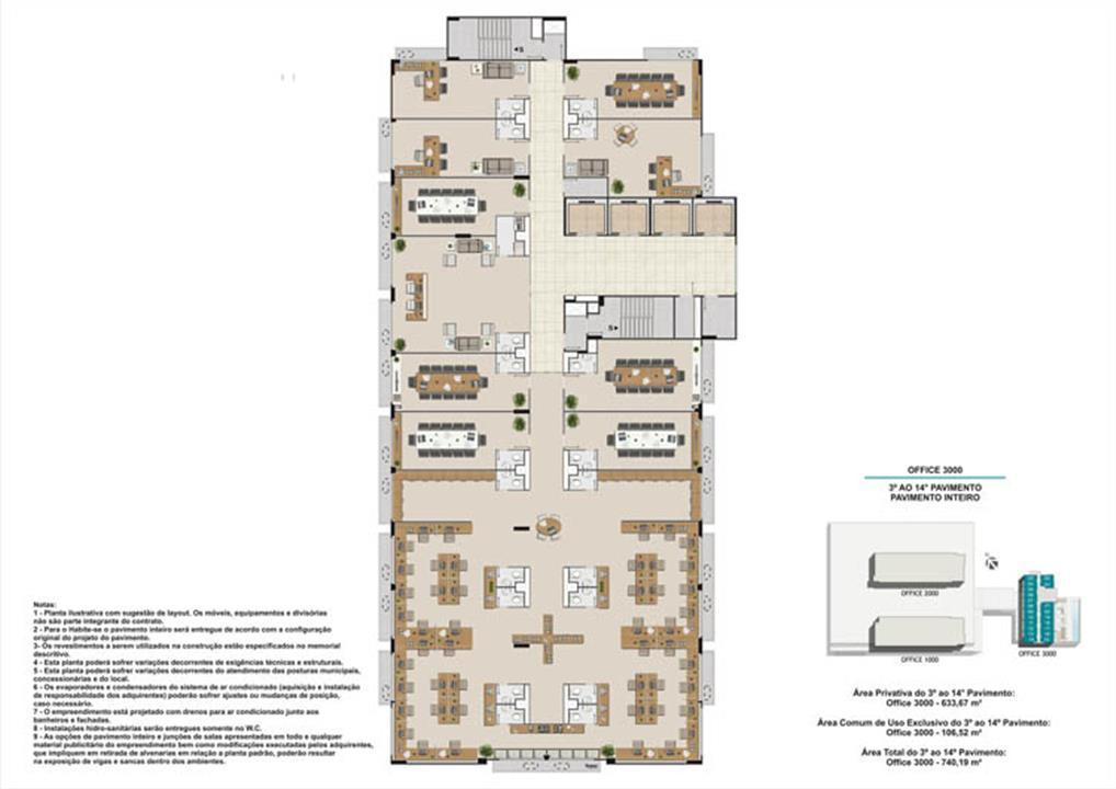 Pavimento livre torre 1 e 2 | Nova América Offices – Salas Comerciaisno  Nova América - Rio de Janeiro - Rio de Janeiro