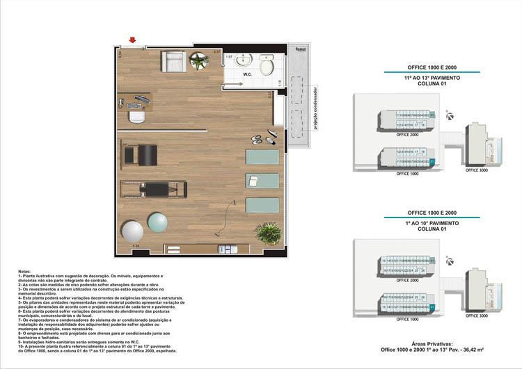 Planta Coluna 01 Torres 1 e 2 | Nova América Offices – Salas Comerciais no  Nova América - Rio de Janeiro - Rio de Janeiro