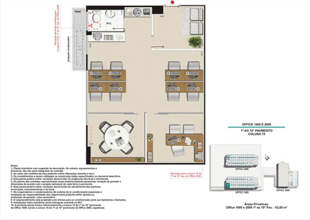 Planta Coluna 15 Torre 1 e 2 | Nova América Offices – Salas Comerciaisno  Nova América - Rio de Janeiro - Rio de Janeiro