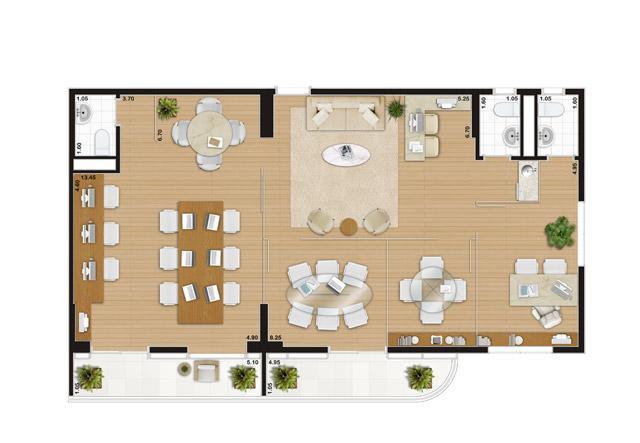 Escritório de 109 m² | Wave – Salas Comerciais em  Valongo - Santos - São Paulo