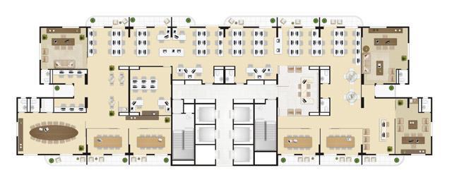 Laje inteira 665 m² | Wave – Salas Comerciais em  Valongo - Santos - São Paulo