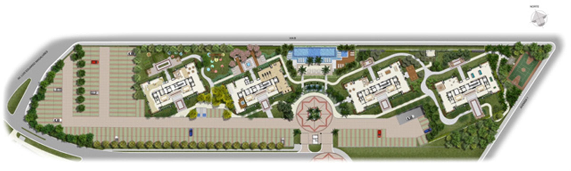 Perspectiva Ilustrada da Implantação | Jardim de Vêneto – Apartamentoem  Altos do Calhau - São Luís - Maranhão