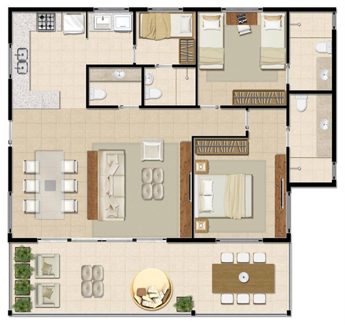 Bangalô Superior - 112 m² | Mandara Lanai – Apartamento no  Porto das Dunas - Aquiraz - Ceará