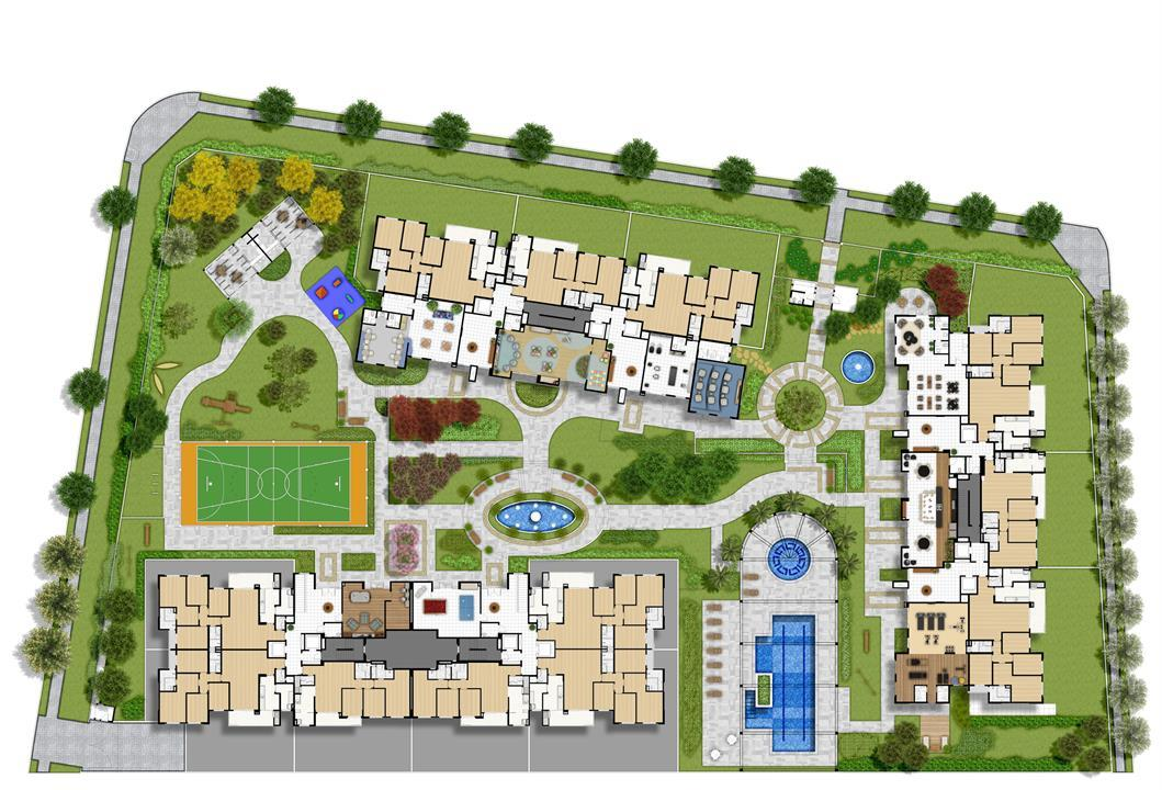 Perspectiva Ilustrada da Estrutura e lazer | WestSide Comfort Residences – Apartamentono  Vila Izabel  - Curitiba - Paraná