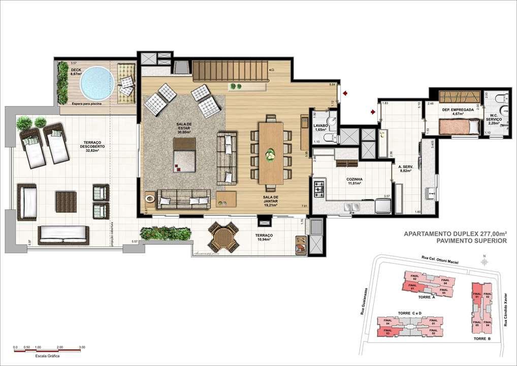 Duplex Superior | WestSide Comfort Residences – Apartamentono  Vila Izabel  - Curitiba - Paraná