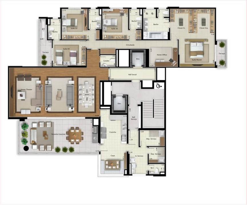 Apartamento Double View 323 m² (par) | Mirage Bay – Apartamentoem  Umarizal  - Belém - Pará
