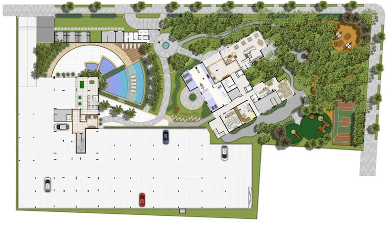 Perspectiva ilustrada Estrutura e Lazer | Villa Mimosa Vita Insolaratta – Apartamentono  Centro - Canoas - Rio Grande do Sul