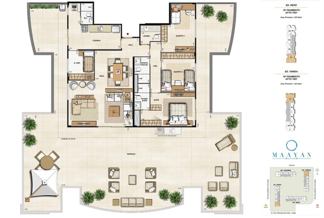 Cobertura 1801 - Ed. Reno e Tamisa | Maayan – Apartamentono  Cidade Jardim - Rio de Janeiro - Rio de Janeiro