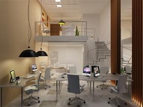 Perspectiva ilustrada da sala arquiteto