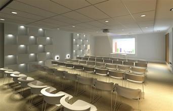 Perspectiva ilustrada do auditório
