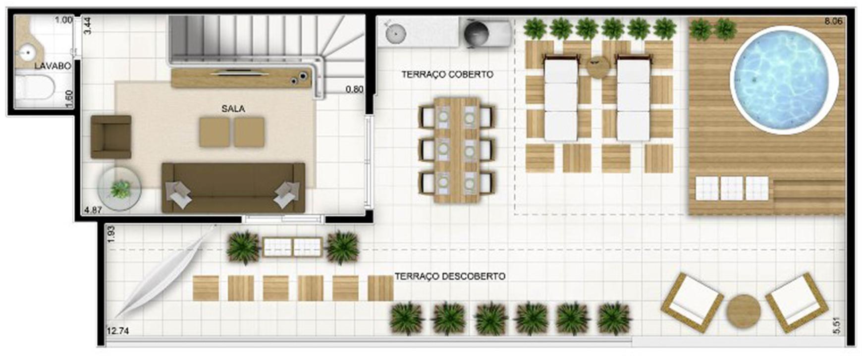 Duplex Andar Superior 159 m²   Quartier Lagoa Nova – Apartamentona  Lagoa Nova - Natal - Rio Grande do Norte