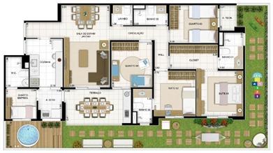 Maison 4 quartos 167 m²   Quartier Lagoa Nova – Apartamento na  Lagoa Nova - Natal - Rio Grande do Norte