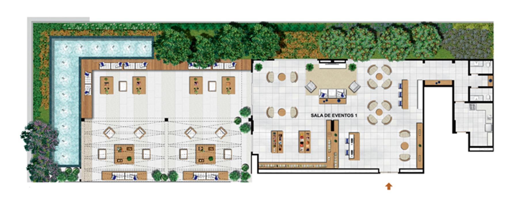 Planta de 503 m² privativos - Sky Lounge   Vega – Salas Comerciaisna  Asa Norte  - Brasília - Distrito Federal