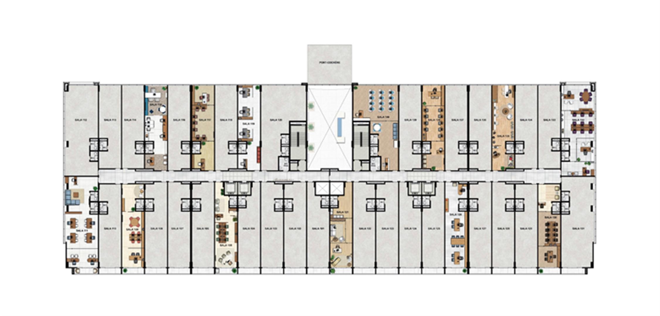 1° Pavimento   Vega – Salas Comerciais na  Asa Norte  - Brasília - Distrito Federal