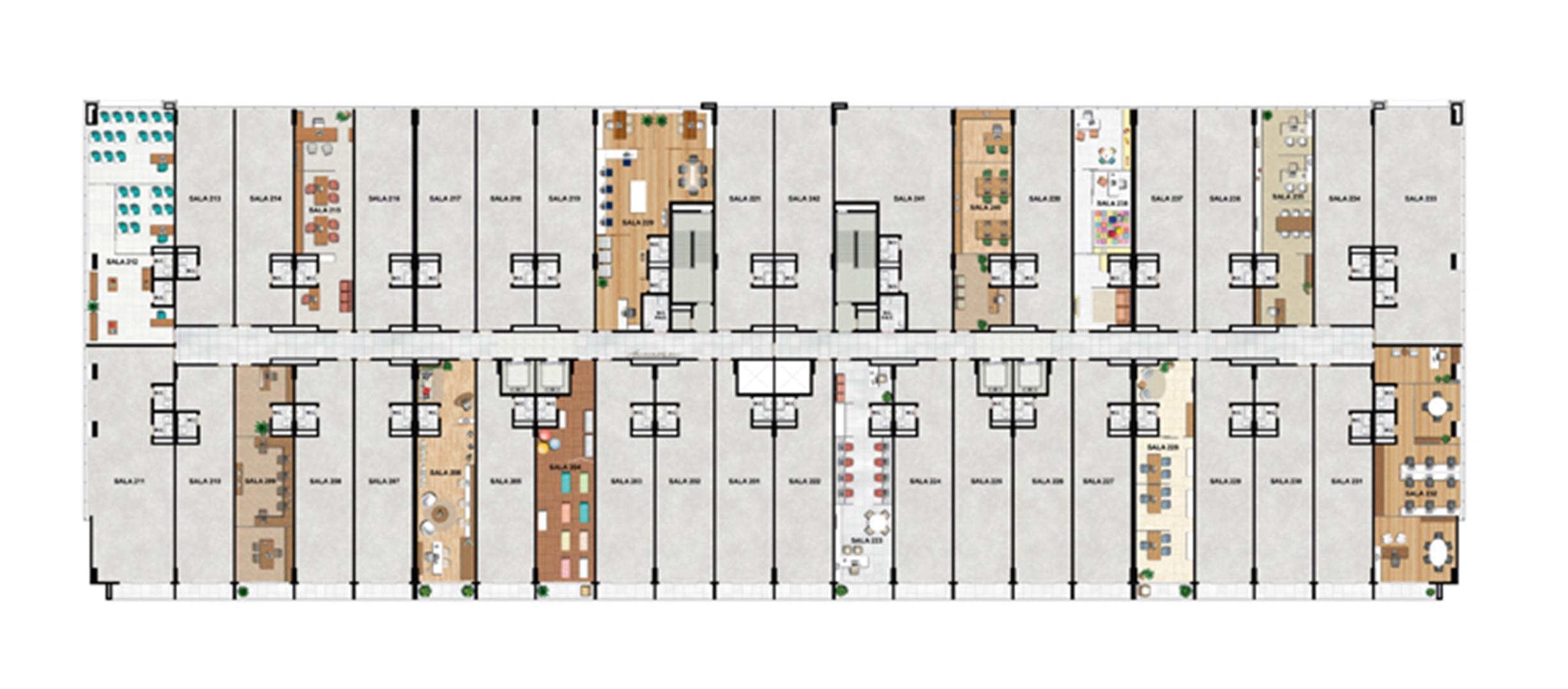 2° Pavimento   Vega – Salas Comerciais na  Asa Norte  - Brasília - Distrito Federal