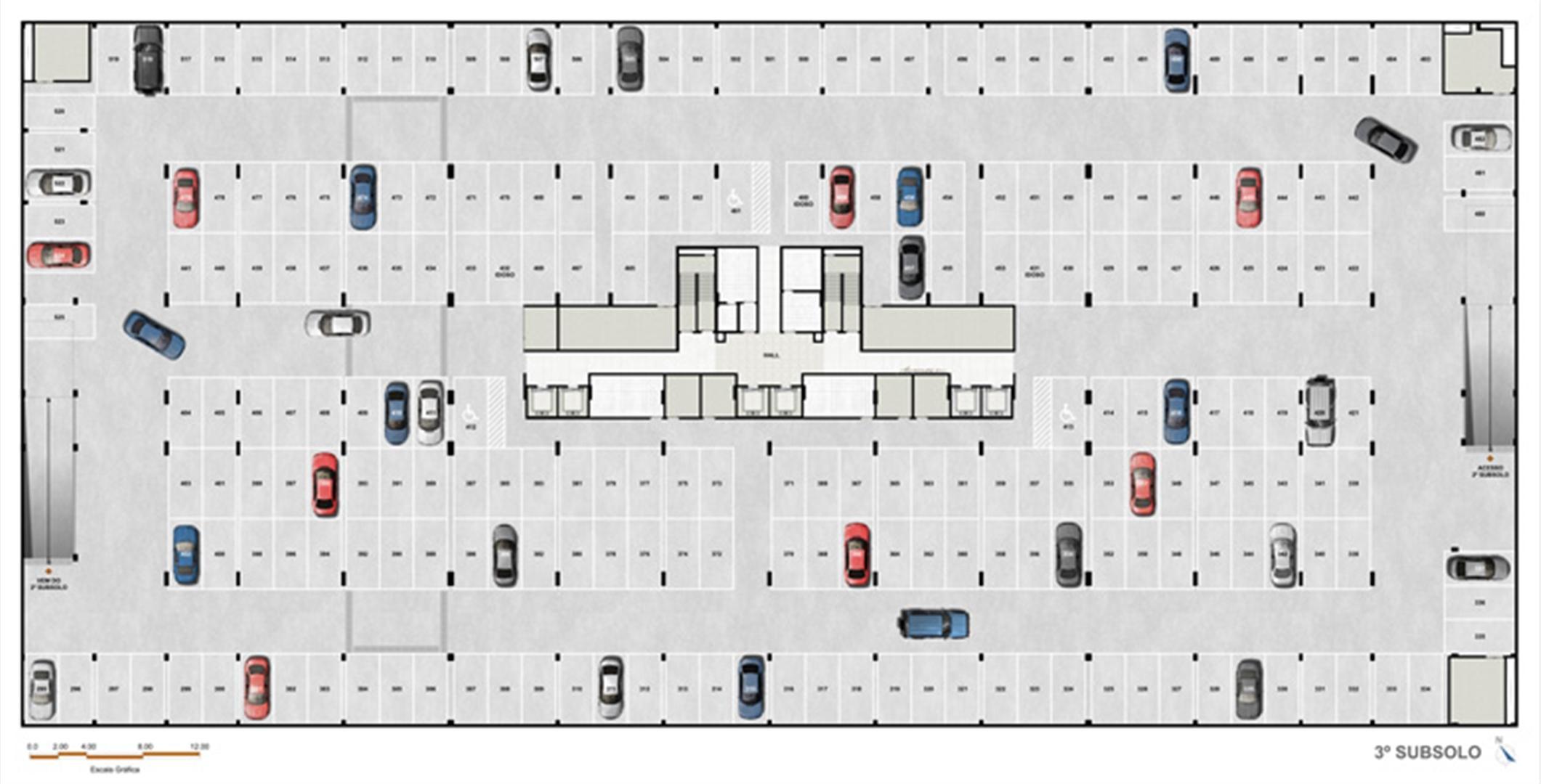 subsolo   Vega – Salas Comerciais na  Asa Norte  - Brasília - Distrito Federal