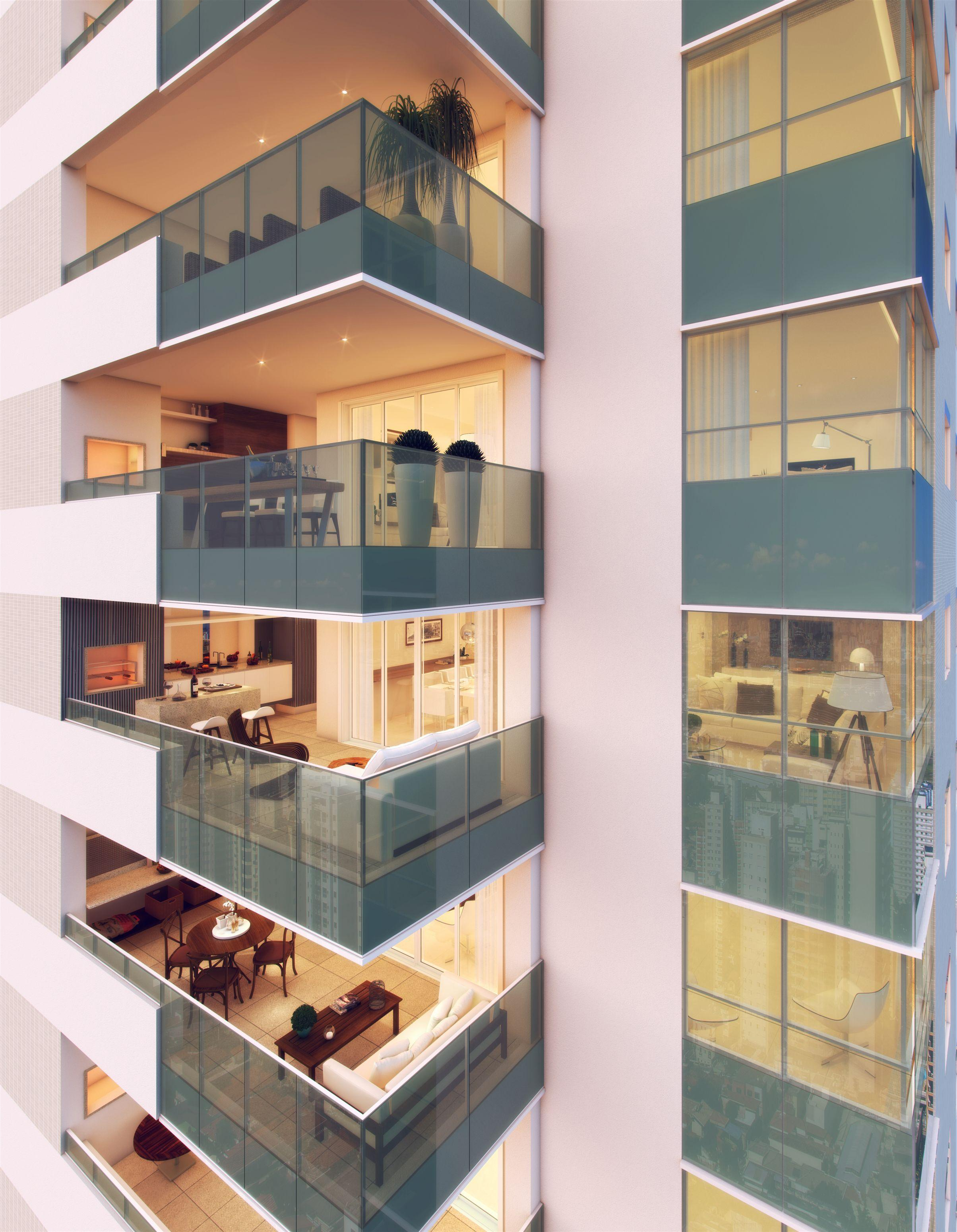Fachada | Vetrino Brooklin by Cyrela – Apartamentono  Brooklin - São Paulo - São Paulo