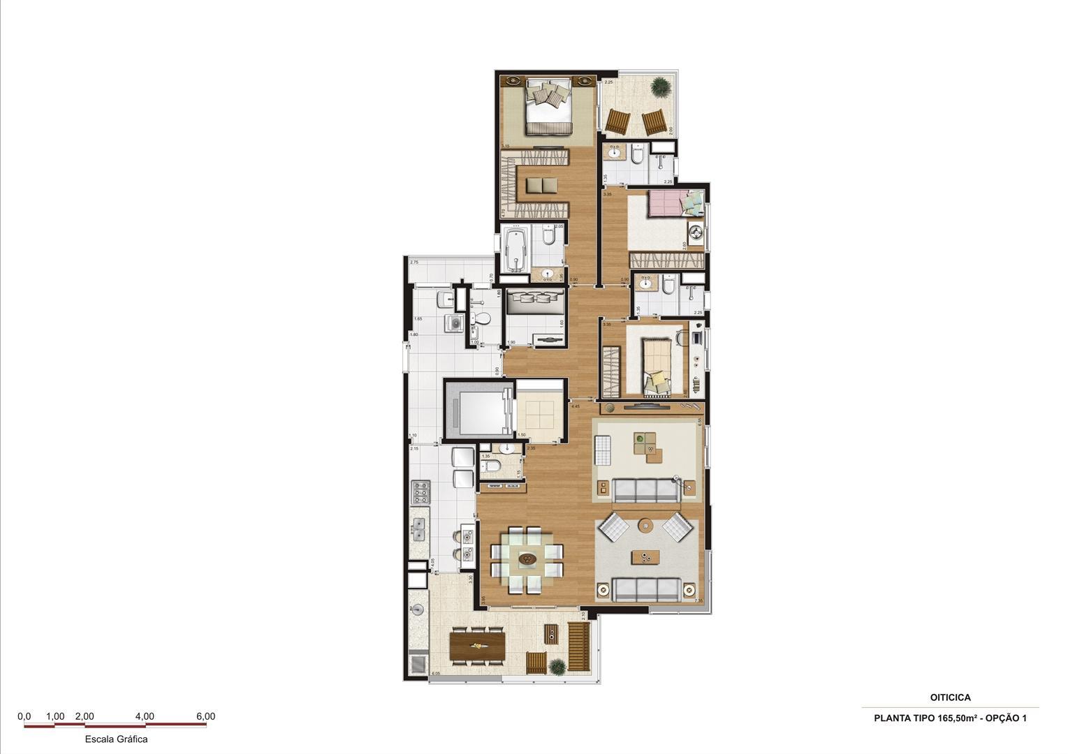 Planta 165,50 m2 - opção 1 | Vetrino Brooklin by Cyrela – Apartamento no  Brooklin - São Paulo - São Paulo
