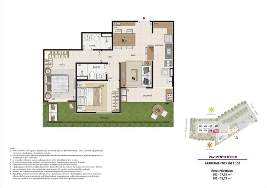 Apartamento 2 quartos tipo 01 - Terraço | Live Bandeirantes All Suites – Apartamentoem  Jacarepaguá - Rio de Janeiro - Rio de Janeiro