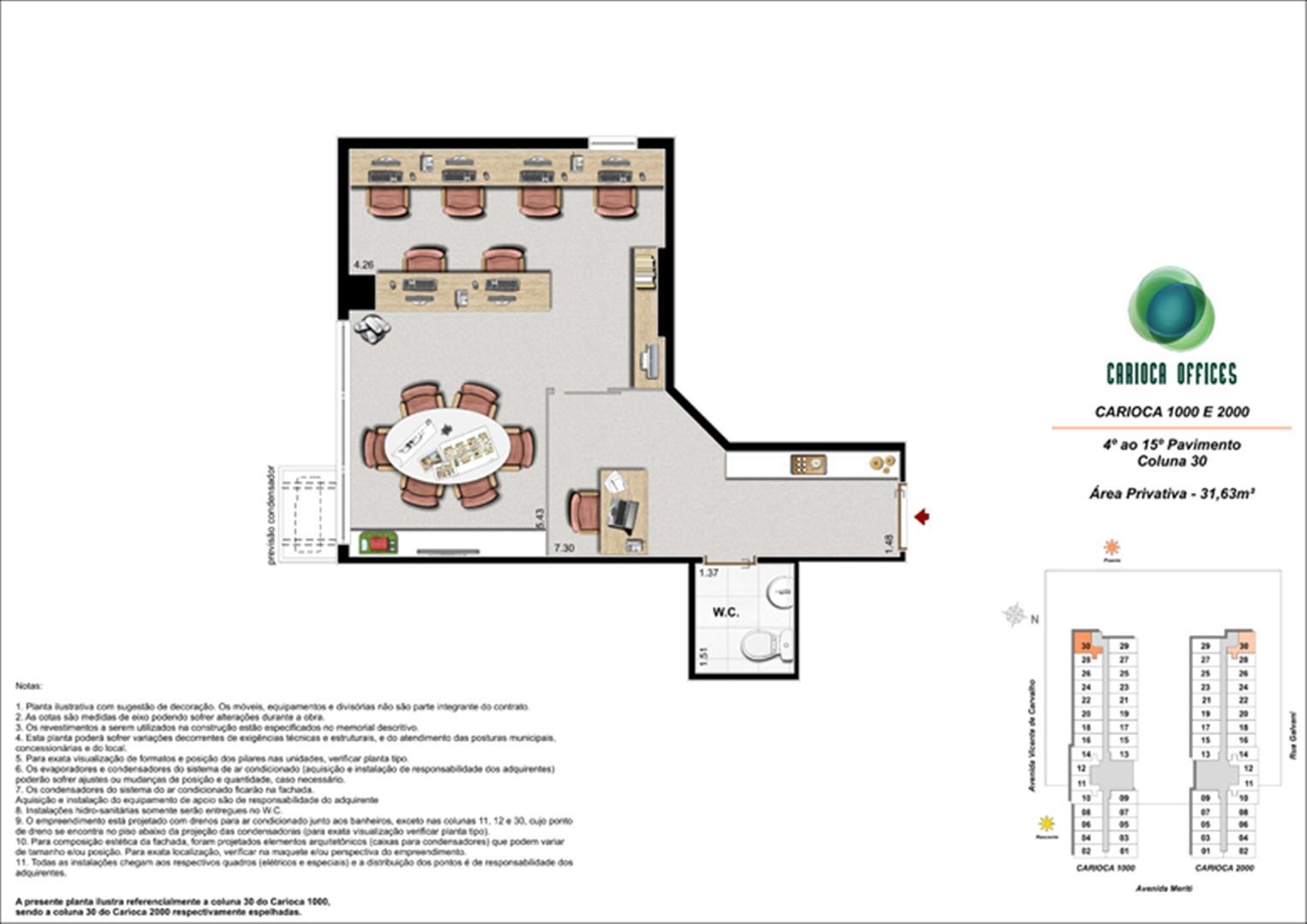 Carioca 1000 e 2000 - Coluna 30 - 4º ao 15º Pavimento | Carioca Offices – Salas Comerciais na  Vila da Penha - Rio de Janeiro - Rio de Janeiro