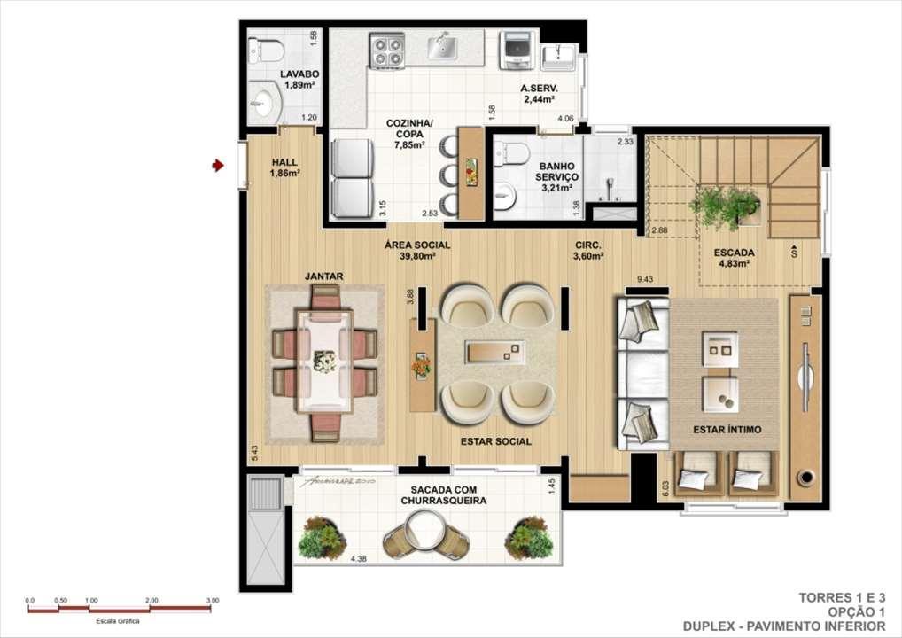 Duplex Inferior - Opção A | Ideale Residencial – Apartamentono  Santa Quitéria - Curitiba - Paraná