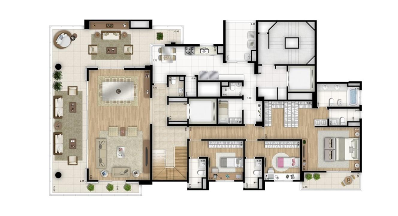 Cobertura duplex inferior - Torre Bianco | Cyrela Essenza Moema – Apartamentoem  Moema - São Paulo - São Paulo
