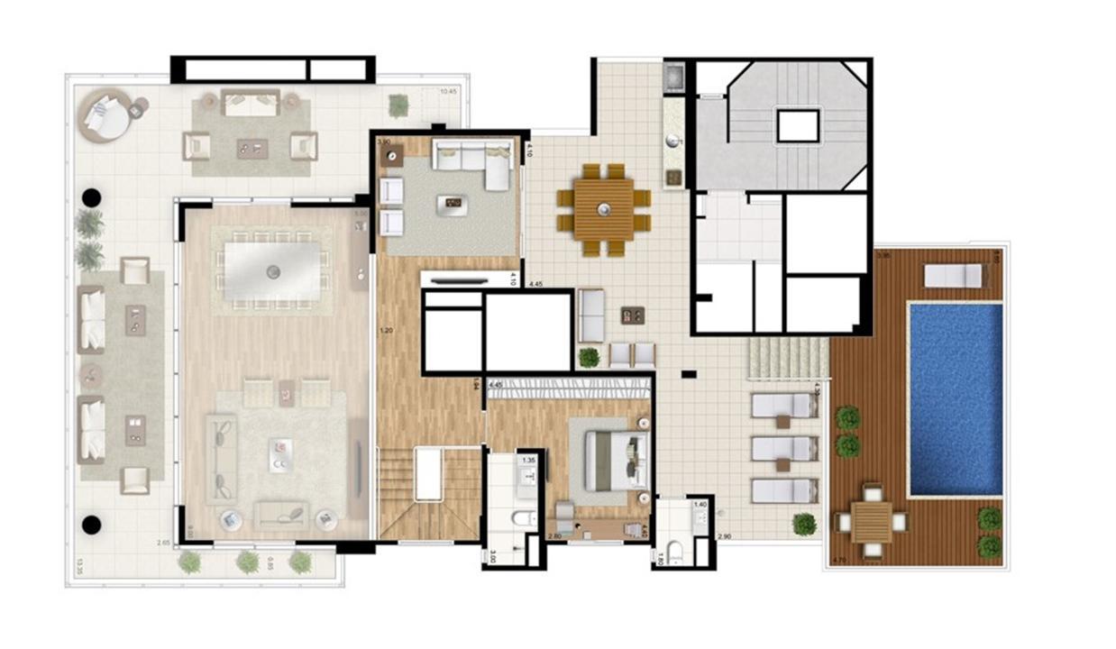Cobertura duplex superior - Torre Bianco | Cyrela Essenza Moema – Apartamentoem  Moema - São Paulo - São Paulo