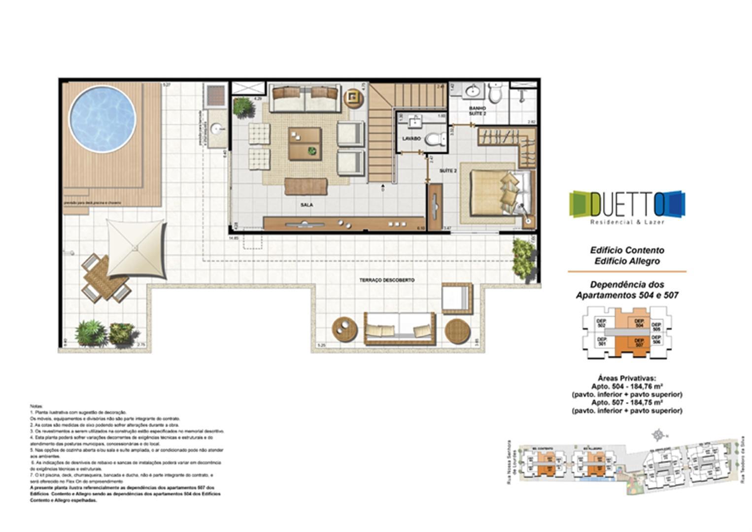 Cobertura Duplex - 2 Quartos com suíte - 184m² - pavto Inferior + pavto superior (2) | Duetto Residencial & Lazer – Apartamento no  Grajaú - Rio de Janeiro - Rio de Janeiro