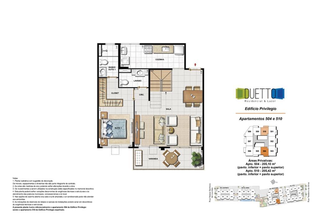 Cobertura Duplex - 2 Quartos com suíte – 205m² - pavto inferior+ pavto superior | Duetto Residencial & Lazer – Apartamentono  Grajaú - Rio de Janeiro - Rio de Janeiro