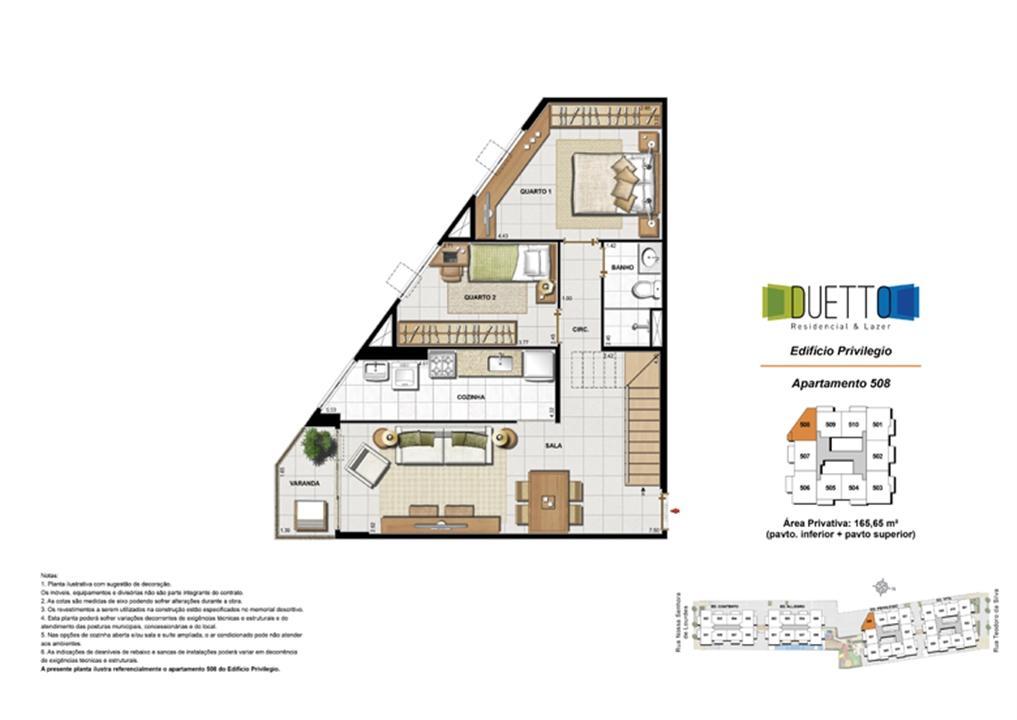 Cobertura Duplex - 3 Quartos com suíte - 165,65m² - pavto inferior+ pavto superior | Duetto Residencial & Lazer – Apartamentono  Grajaú - Rio de Janeiro - Rio de Janeiro
