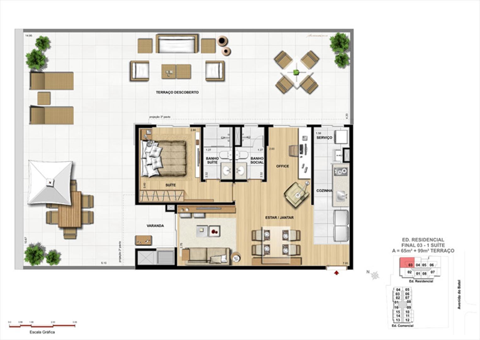 Apartamento 1 Suíte com terraço | 1550 Batel (Home Batel) – Apartamento no  Batel - Curitiba - Paraná