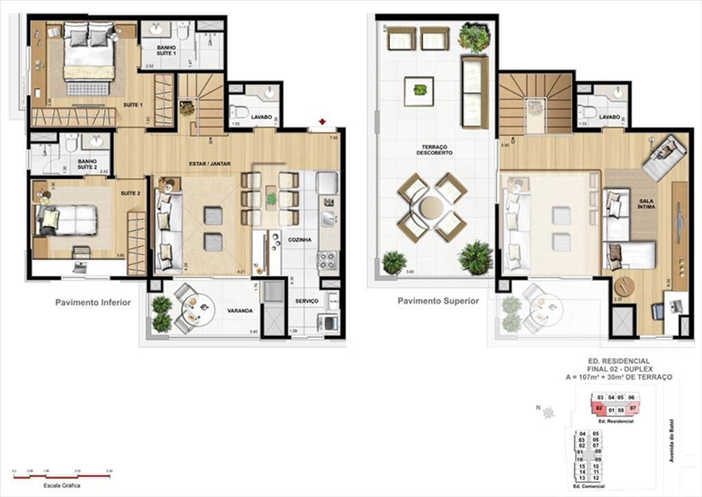 Apartamento 2 Suítes Duplex | 1550 Batel (Home Batel) – Apartamentono  Batel - Curitiba - Paraná