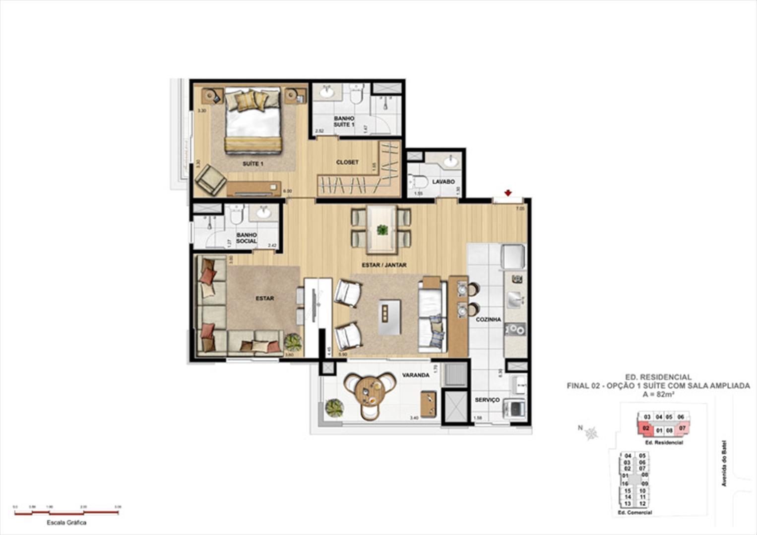 Apartamentos 2 Suítes | 1550 Batel (Home Batel) – Apartamentono  Batel - Curitiba - Paraná