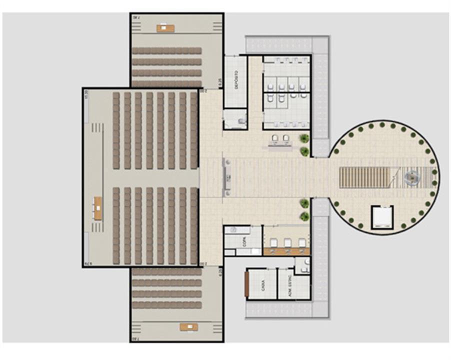 Planta centro de convenções | Villa Lobos Office Park – Apartamentono  Alto de Pinheiros - São Paulo - São Paulo