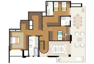 Planta-tipo - 3 suítes - 220m² privativos - Piso Superior (Verbera Double Floor) | Essência Alphaville – Apartamento em  Alphaville - Barueri - São Paulo