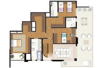 Planta-tipo - 3 suítes - 300m² privativos - Piso Intermediário (Verbera Triple Floor) | Essência Alphaville – Apartamento em  Alphaville - Barueri - São Paulo