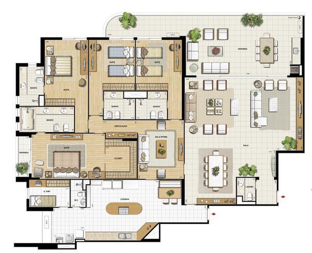 Edifício Flamands - Planta do 1º ao 14º pavto (col. 1 e 2 | Saint Barth – Apartamento na  Barra da Tijuca - Rio de Janeiro - Rio de Janeiro